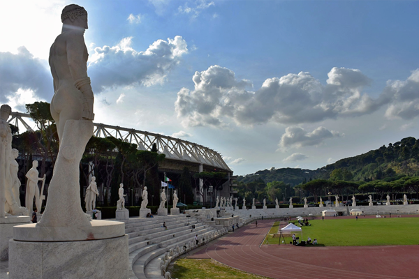 Stadio dei Marmi, the warm-up track for the IAAF Diamond League meeting in Rome (IAAF)
