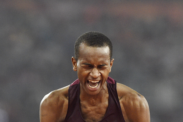 Mutaz Essa Barshim at the IAAF World Championships (AFP / Getty Images)