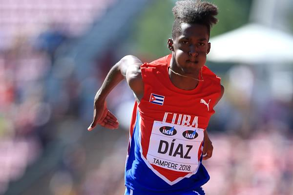Cuba's Jordan A.Diaz leaps to triple jump gold at the IAAF World U20 Championships Tampere 2018 (Getty Images)