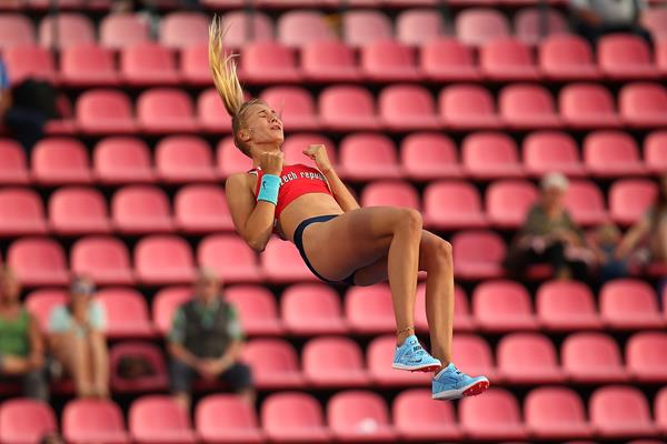 Amalie Svabikova jumps to victory in the pole vault at the IAAF World U20 Championships Tampere 2018 (Getty Images)