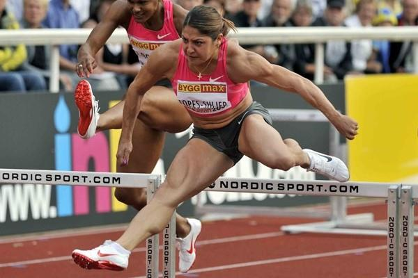 Priscilla Lopes-Schliep powers to a 12.51 PB in Stockholm (Hasse Sjögren)