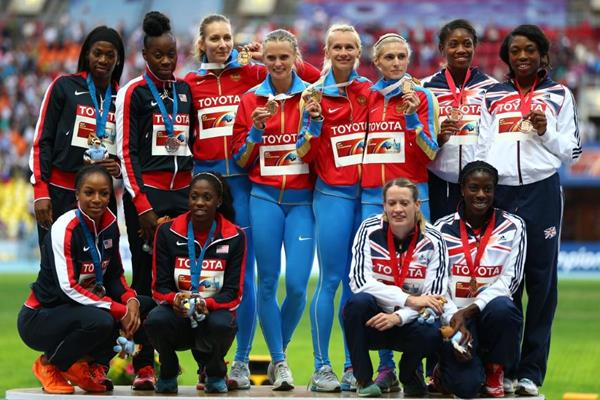 Womens 4x400m Relay Team at the IAAF World Athletics Championships Moscow 2013 (Getty Images)