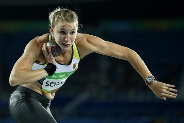 Carolin Schafer in the heptathlon shot put at the Rio 2016 Olympic Games (Getty Images)