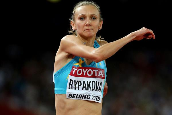 Olga Rypakova in the triple jump at the IAAF World Championships Beijing 2015 (Getty Images)