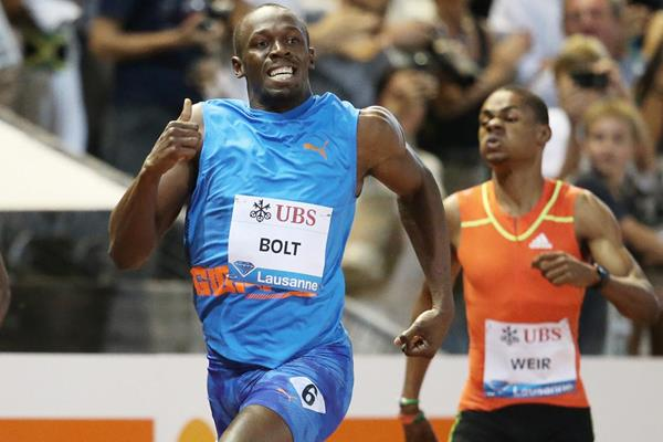 Usain Bolt 19.58 meeting record in Lausanne (Gladys Chai van der Laage)