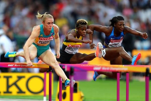 Sally Pearson in the 100m hurdles semi-final at the IAAF World Championships London 2017 (Getty Images)