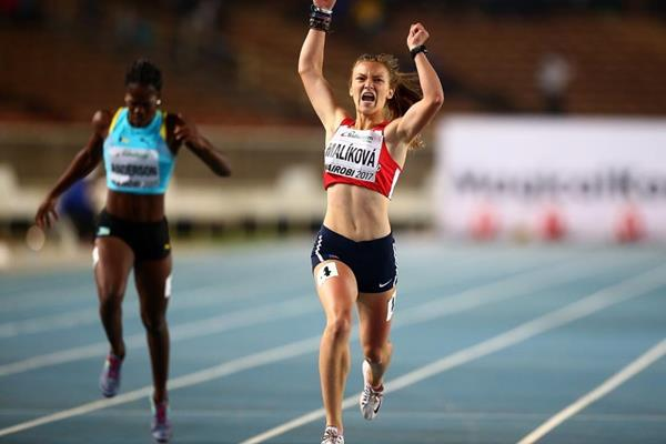 Barbora Malikova wins the 400m at the IAAF World U18 Championships Nairobi 2017 (Getty Images)