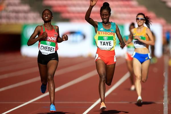 Beatrice Chebet wins the women's 5000m at the IAAF World U20 Championships Tampere 2018 (Getty Images)