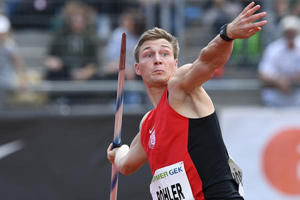 Thomas Rohler in action at the German Championships in Kassel (Gladys Chai von der Laage)