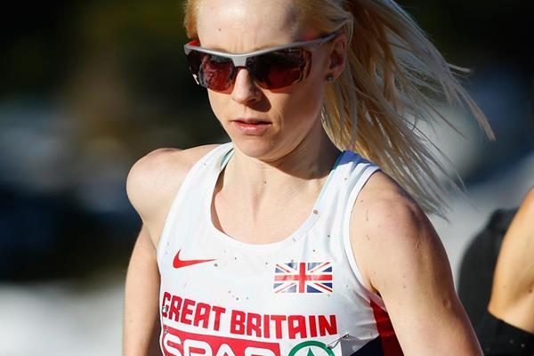 Gemma Steel in action in the senior women's race (Getty Images)