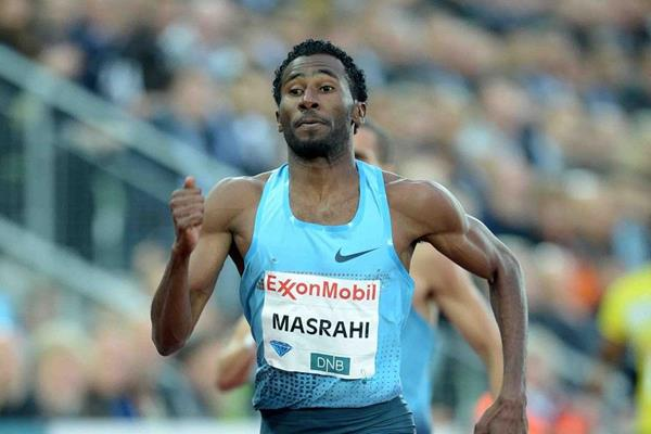 Youssef Al-Masrahi winning the 400m at the 2013 IAAF Diamond League meeting in Oslo (Jiro Mochizuki)