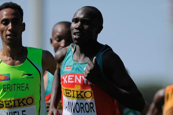 Kenya's Geoffrey Kamworor in action at the IAAF World Cross Country Championships (Getty Images)