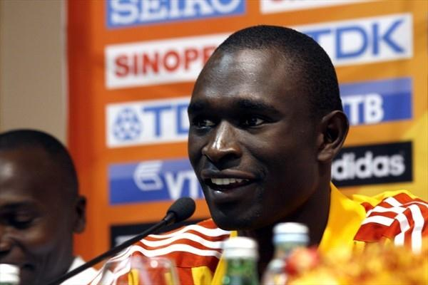 David Rudisha at the pre-competition press conference in Split (Bob Ramsak)