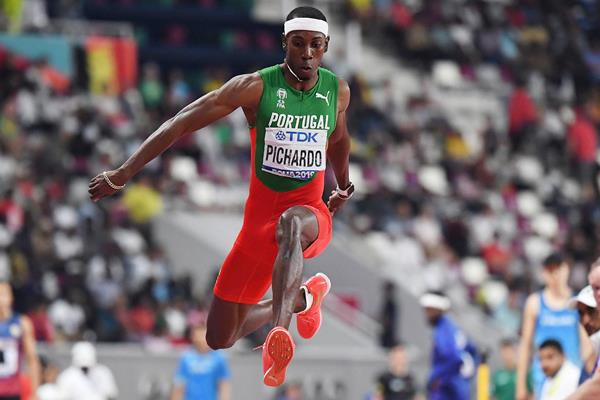 Pedro Pablo Pichardo in the triple jump at the IAAF World Athletics Championships Doha 2019 (AFP / Getty Images)