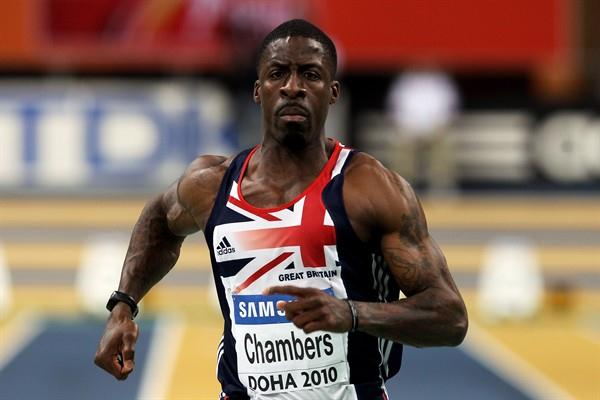 Dwain Chambers of GBR in action (Getty Images)