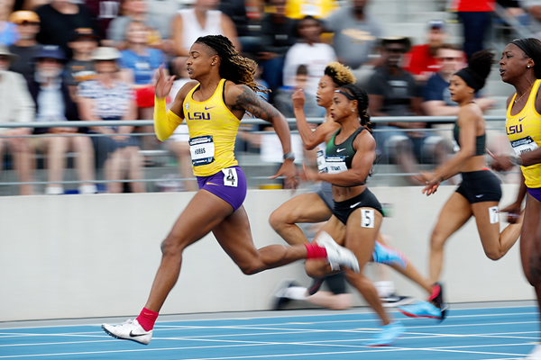 Aleia Hobbs in action in the 100m at the US Championships (Getty Images)