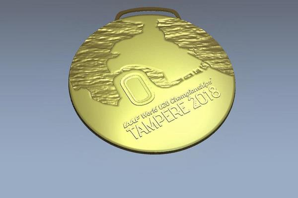 Medal for the IAAF World U20 Championships Tampere 2018 (Organisers)