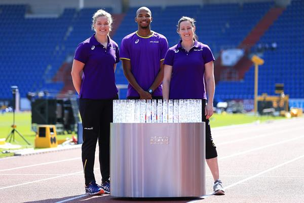 Dani Stevens, Abderrahman Samba and Jana Pittman in Ostrava (Getty Images)