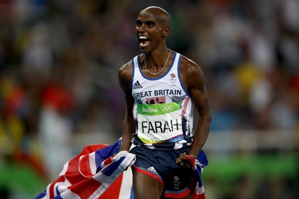Mo Farah after winning the 5000m at the Rio 2016 Olympic Games (Getty Images)