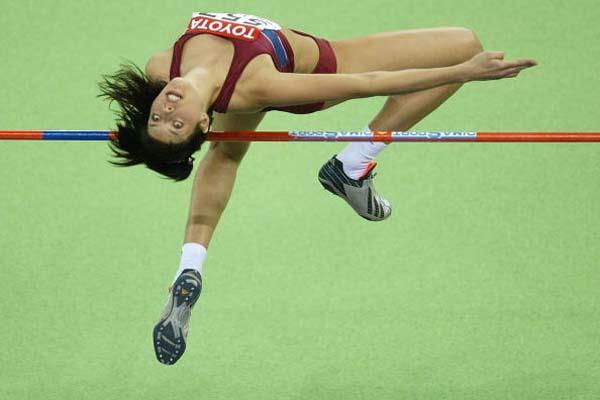 Blanka Vlasic of Croatia in action in the women's High Jump (Getty Images)