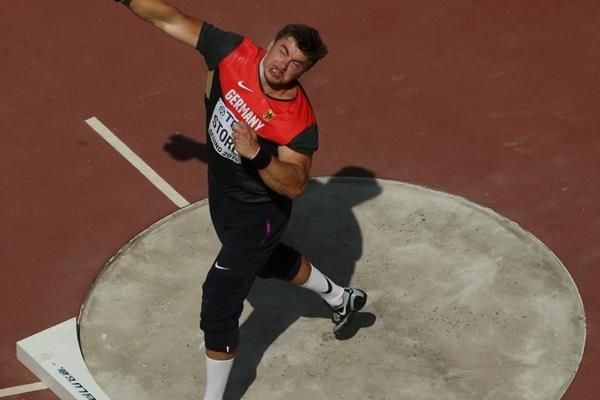 David Storl in the shot put at the IAAF World Championships, Beijing 2015 (Getty Images)