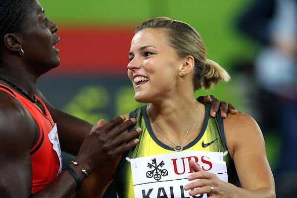 Susanna Kallur after her hurdles win in Zürich (Getty Images)