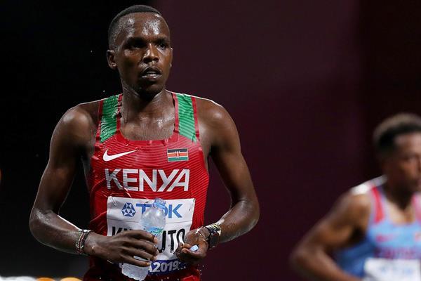 Amos Kipruto in the marathon at the IAAF World Athletics Championships Doha 2019 (Getty Images)