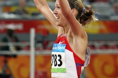 Gulnara Galkina becomes the first woman to break nine minutes for the steeplechase, breaking her own world record (Getty Images)