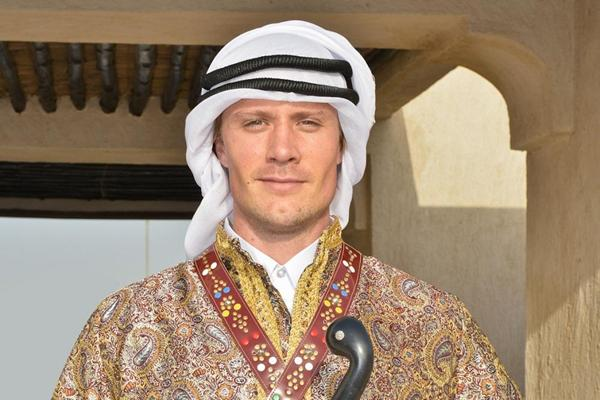 Andreas Thorkildsen at Al Shaqab ahead of the 2013 IAAF Diamond League meeting in Doha (organisers)
