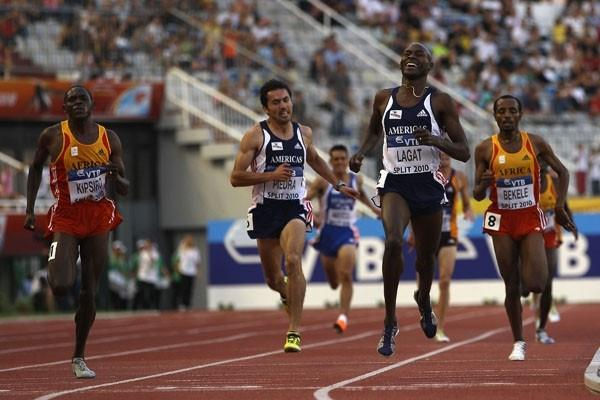 Bernard Lagat completes a 3000/5000m double at the IAAF / VTB Bank Continental Cup in Split (Getty Images)