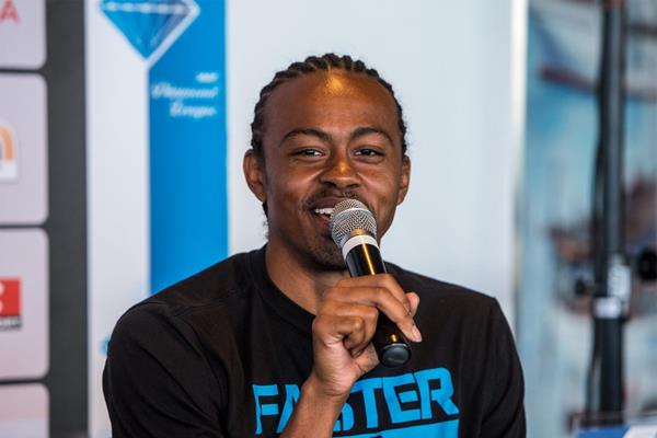 Aries Merritt ahead of the IAAF Diamond League meeting in Monaco (Philippe Fitte)