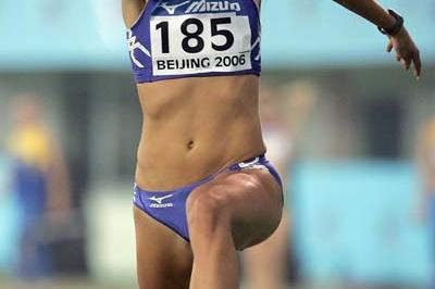 Kaire Leibak of Estonia in the women's Triple Jump (Getty Images)