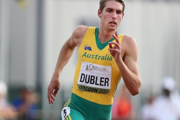 Cedric Dubler in the decathlon 400m at the 2014 IAAF World Junior Championships in Eugene (Getty Images)
