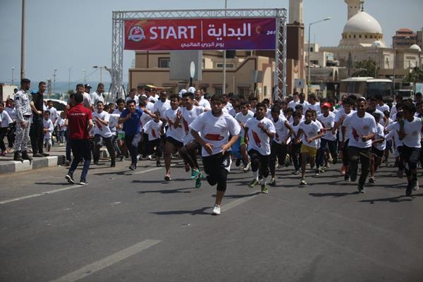 Run 24-1 in Gaza, the first international sporting event in Palestine (Organisers)