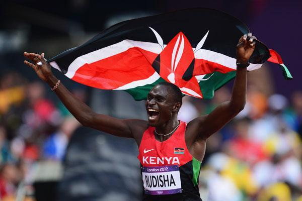 David Rudisha wins in London (Getty Images)