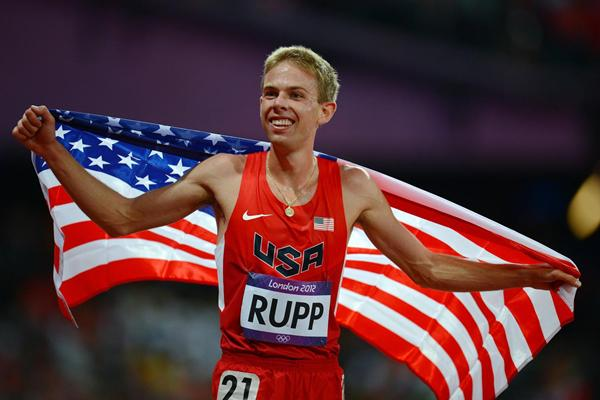 American distance runner Galen Rupp after taking Olympic 10,000m silver (Getty Images)