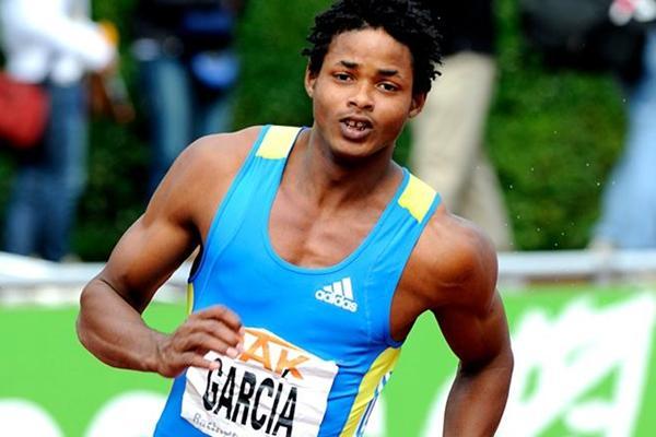 Cuban Yordani Garcia en route to his first day lead in Ratingen (Iris Hensel)