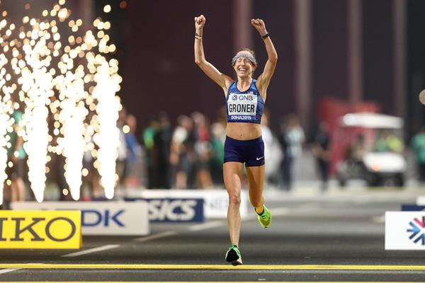 US marathoner Roberta Groner at the World Championships in Doha (Getty Images)