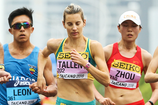 Claire Tallent in the 50km race walk at the IAAF World Race Walking Team Championships Taicang 2018 (Getty Images)