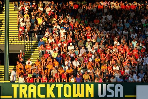 Fans at historic Hayward Field for the IAAF World Junior Championships, Oregon 2014 (Getty Images)