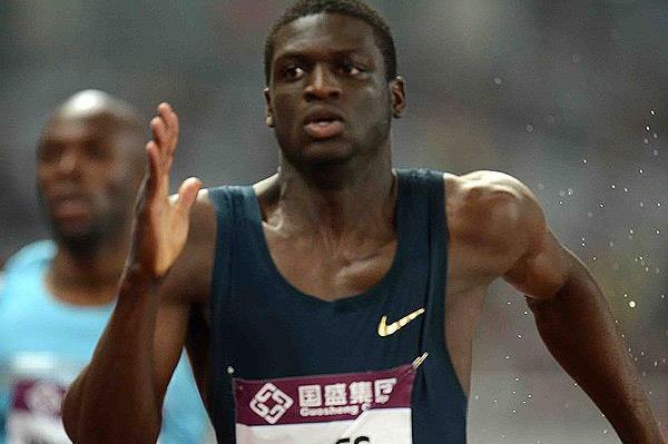 Kirani James on his way to winning the 400m at the IAAF Diamond League meeting in Shanghai (Jiro Mochizuki)
