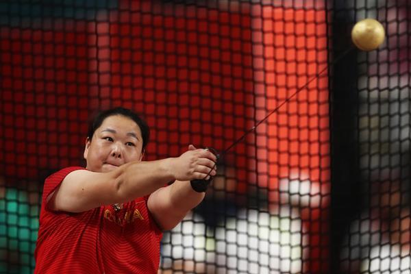 Wang Zheng at the IAAF World Athletics Championships Doha 2019 (Getty Images)