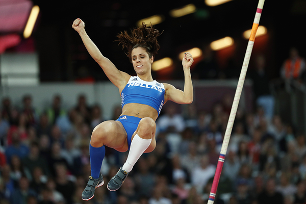 Ekaterini Stefanidi, winner of the pole vault at the IAAF World Championships London 2017 (Getty Images)