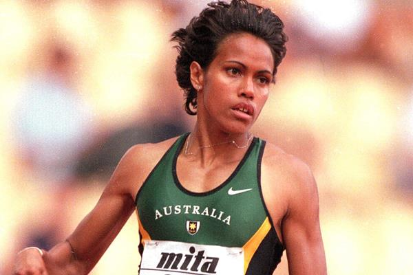 Cathy Freeman in action at the 1999 World Championships in Seville (Getty Images)