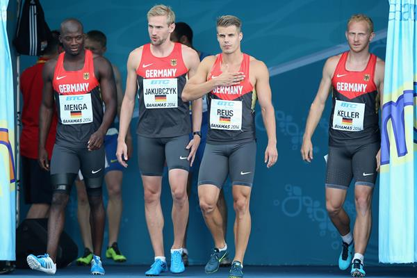 Germany's 4x100m relay at the 2014 World Relays (Getty Images)