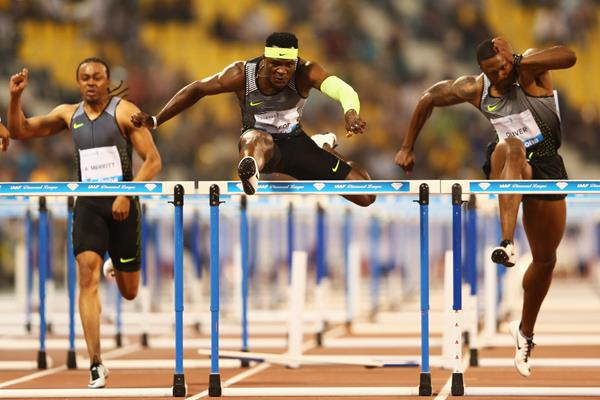 Omar McLeod at the 2016 IAAF Diamond League meeting in Doha (Getty Images)