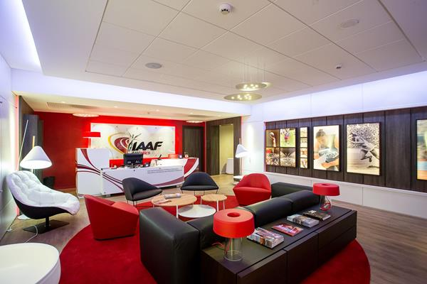 IAAF HQ reception area (IAAF / Philippe Fitte)