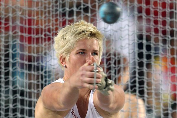 Poland's Anita Wlodarczyk on the way to victory in the Hammer (Getty Images)