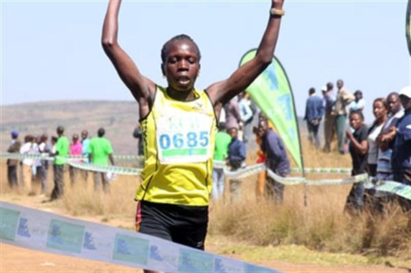 Sharon Cherop wins in Nyahururu (Nicholas Njagi, Ginadin Communications)