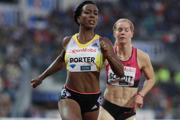 Tiffany Porter at the 2013 IAAF Diamond League meeting in Oslo (Jiro Mochizuki)